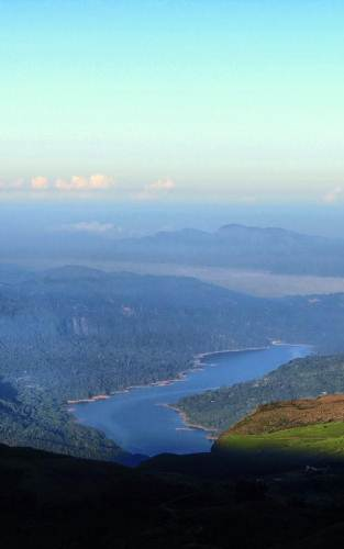 kotmale reservoir and its dam