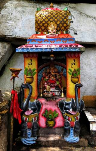 the shrine close to the entrance from the main road