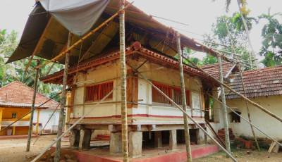 Tampiti Temple.-now under renovation. Therefore unable to watch paintings