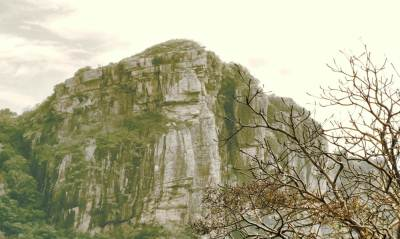 Dimbulagala mountain range. This part is visible as a face of lion. They call it Sinhagala සිoහගල