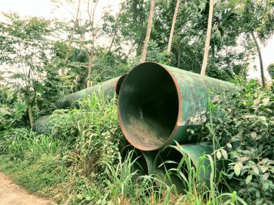 These kinds of tubes can be seen in the all over the village due to hydropower project.