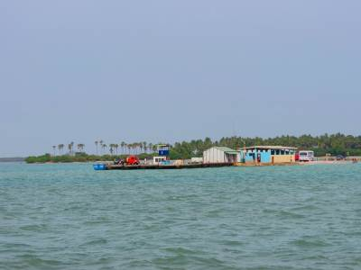 Karaikattuwan Jetty in return journey