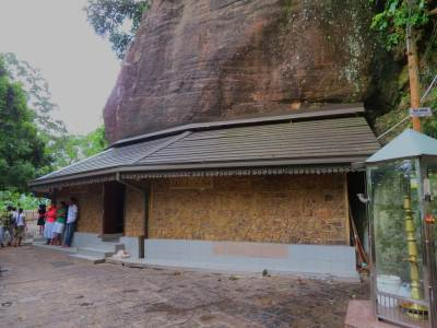 Ancient Gatabaru temple and Dewalaya of God Rajjurubandara.