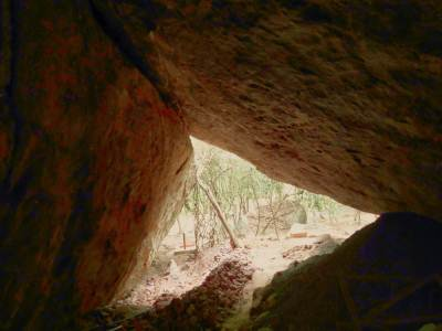 The cave with longest cave inscription of Sri Lanka