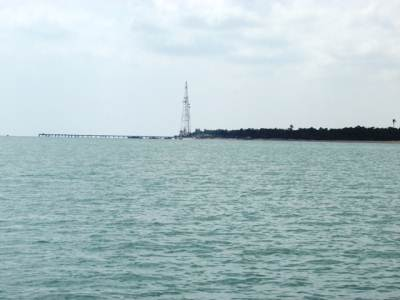 Talaimannar pier seen from the sea