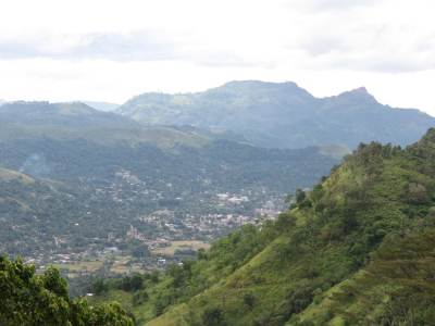 View of Badulla town on our way to Deyangalla estate