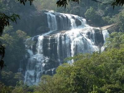 First glimpse of rathna falls