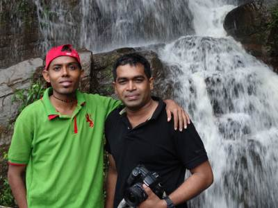 The professional touch: Harsha and me