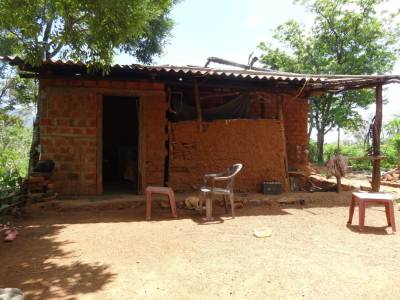 What a simple house; This is where we met that girl making Jaggery