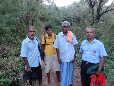 From left: Nava Mama, Jayasinghe Banda, Ukkubanda and Samarakoon the postman