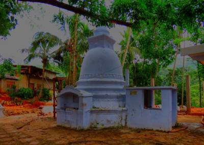 Newly constructed Stupa on old stupa