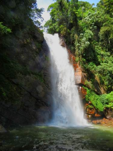 Closer view of the waterfall