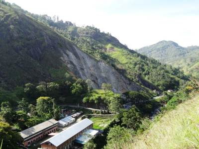 The massive quarry at B'wela-Badulla main road