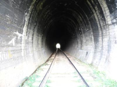 Entering the tunnel