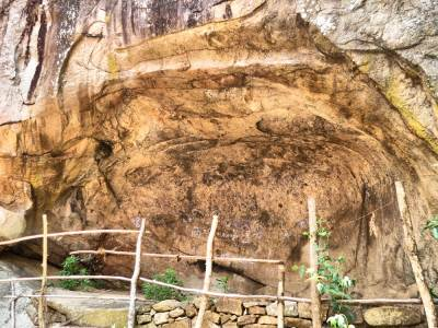 The cave which had ancient paintings
