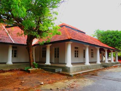 The quarters used by Leonard Wolf. Renovated and awaiting for reopening as presidential house of Hambanthota.