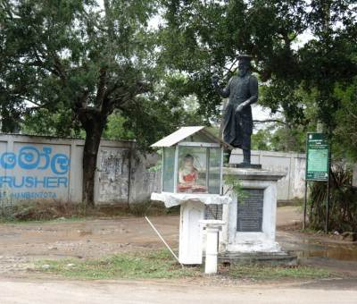Andare's statue at Udamalala junction