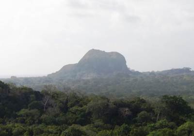 View of elephant rock from Maha Sithulpawwa.