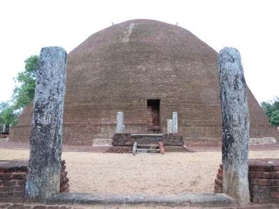 Entering to the Stupa.