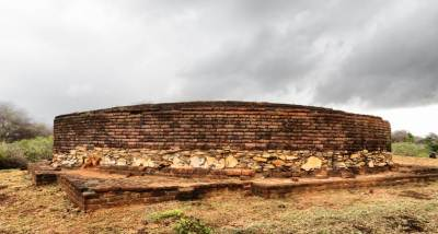 Stupa-well preserved by archeology department.