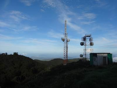 Comms towers all around