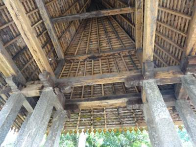 The roof at the entrance structure