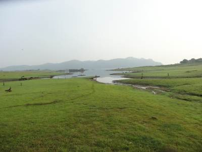 Water levels are very low due to the lateness of the monsoon