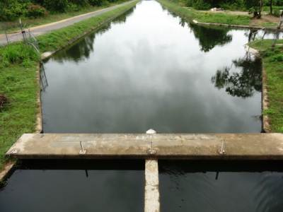 Just before the sluice