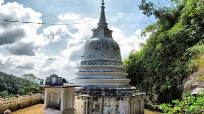 Stupa. Can have a nice surrounding view from here.