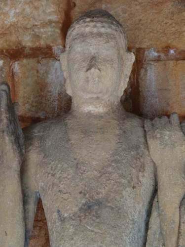 Serene looking Buddha despite being decayed after a hundreds of years