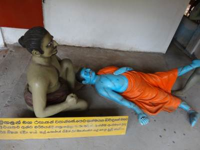 Mugalan Thero being attacked by the thieves