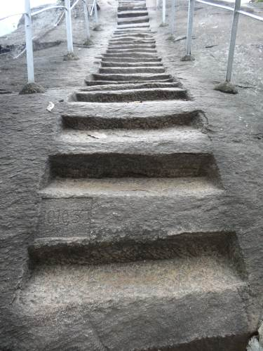 Steps carved into the rock