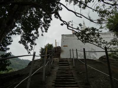 Towards the stupa