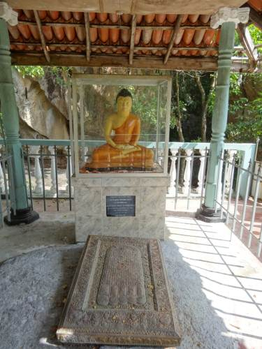 Replica of Lord Buddha footprint