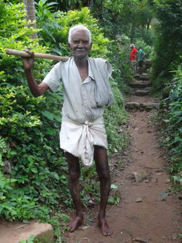 Tikiri Banda, 85 years old but still goes to work early in the morning