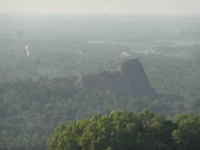 The water tower is in Gampaha, further away is the Asgiriya