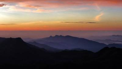 Pettigala as seen from adams peak