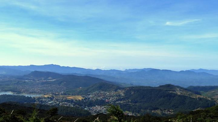 Nuwara eliya as seen from the summit