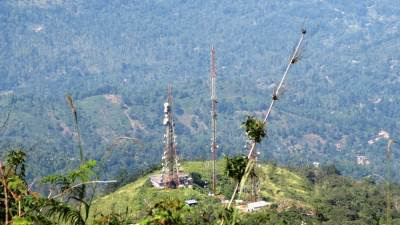 Hunnasgiriya Transmission towers