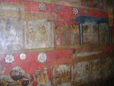 It is believed that these murals were painted by  Deveragala Silvaththera,  Devendra Muulachaari,  Hiriyale Naide and Koswatte Siththara Naide.