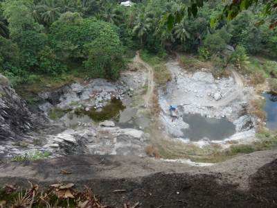 The Quarry below