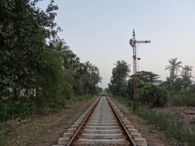 Endless railway line towards Chilaw