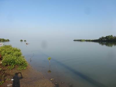 Puttalam lagoon, one of the biggest in SL