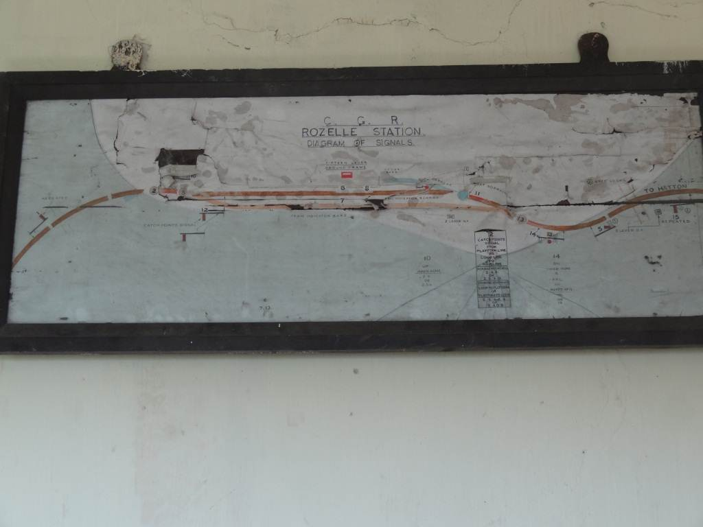 The map around Rozella of the railway line