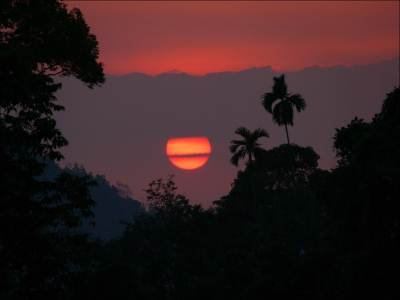 Sun set seen from Adewikanda