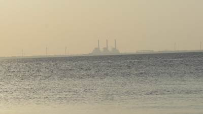 Norochcholei power plant seen from Puttalam.