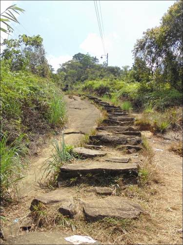 Hardly you will find stairs like this before Haramitipana