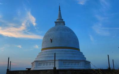 Wiharagala Stupa is situated on top of the rock