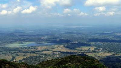 splendid views (kiriyagas wewa lake also could be seen)