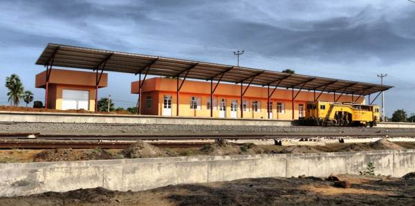 Thalaimannar new railway station. About to open